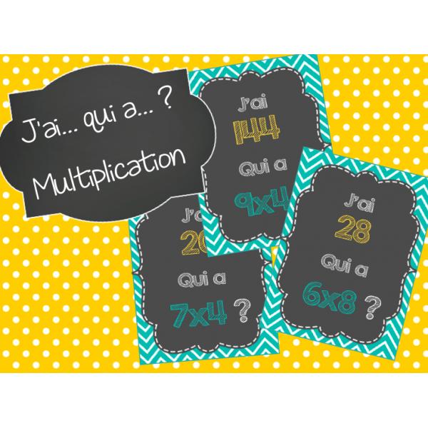 J'ai... Qui a... ? Multiplication