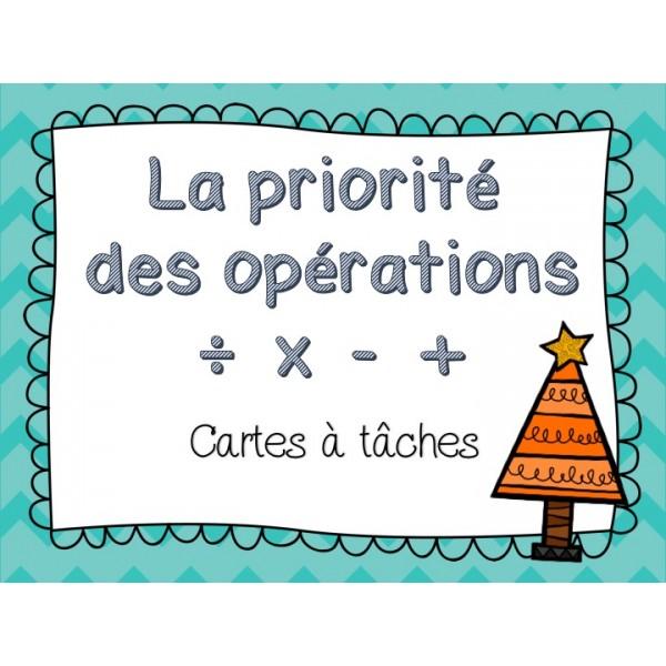 27 cartes à tâches - priorité des opérations