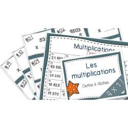 Multiplications Cartes à tâches 4x1