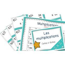 Multiplications Cartes à tâches 2x2