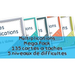 Multiplications Cartes à tâches Lot complet