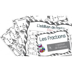 L'addition de fractions - Cartes à tâches !