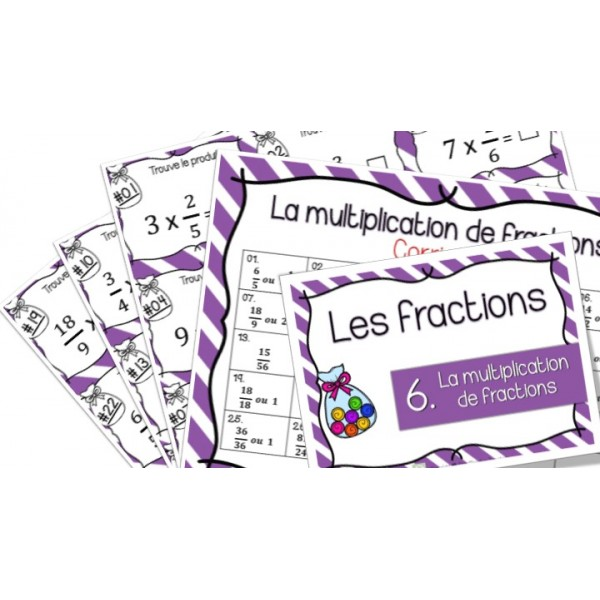 Multiplication de fractions - Cartes à tâches !