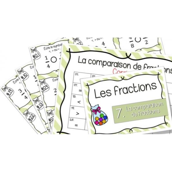 Comparaison de fractions - Cartes à tâches !