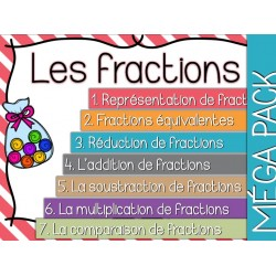 Les fractions - Cartes à tâches - Lot complet !