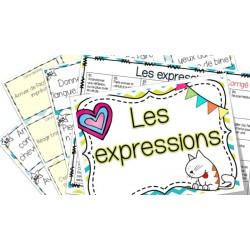 Les expressions - cartes à tâches !