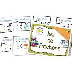 Jeu de fractions - Casse-tête - Puzzle !