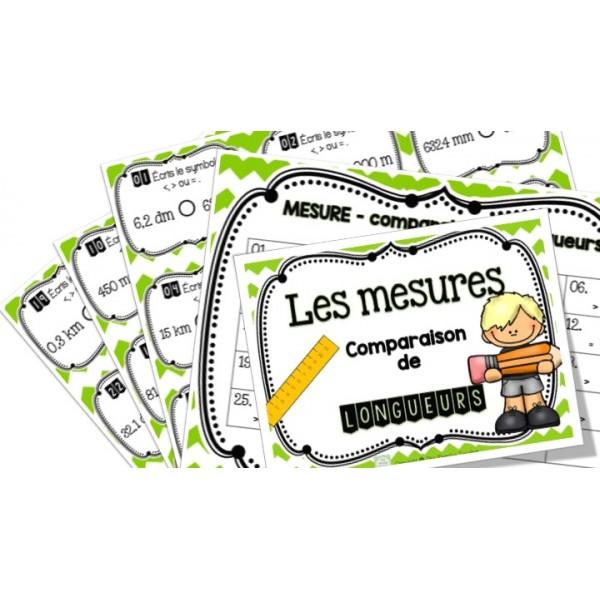 Comparaison de longueurs - cartes à tâches !