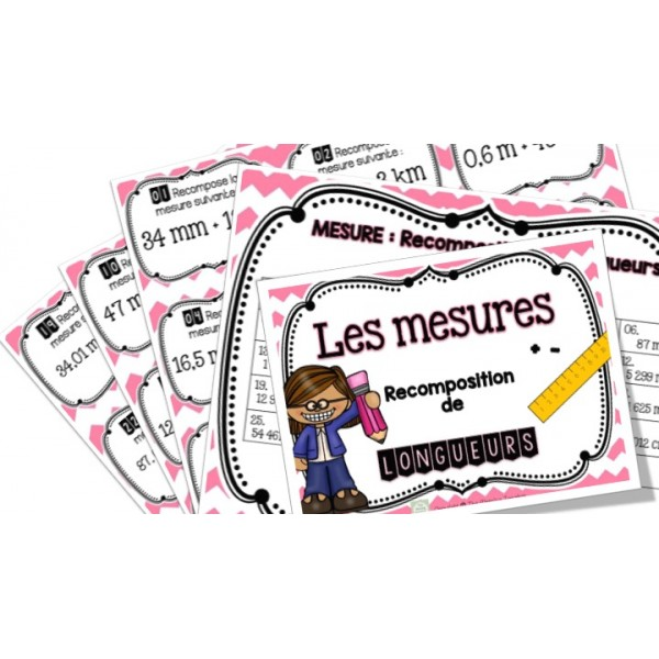 Recomposition de mesures - Cartes à tâches !