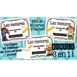 La mesure -BUNDLE - Cartes à tâches !