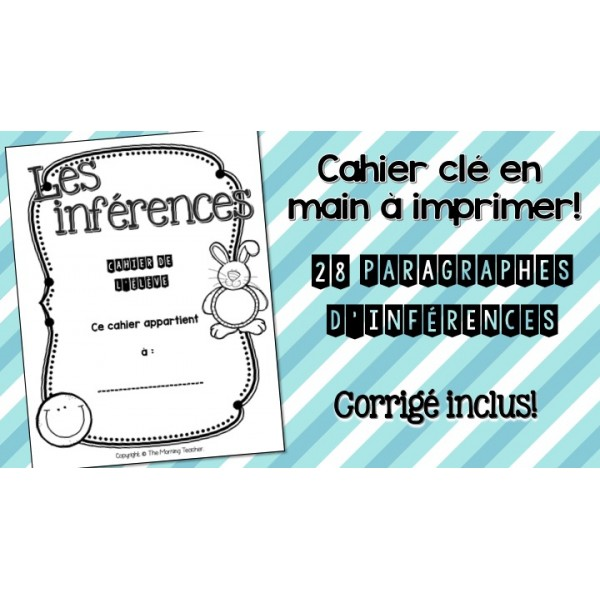 Cahier d'inférences - prêt à imprimer!