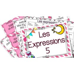 Les expressions 5 - Cartes à tâches !