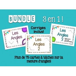 Les angles - Cartes à tâches - BUNDLE