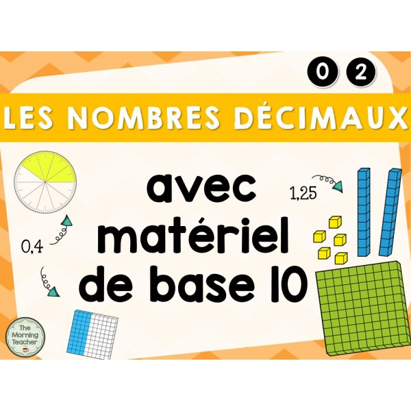 Nombres décimaux - Matériel de base 10
