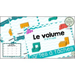 Le volume - Cartes à tâches