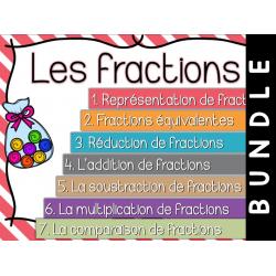 Les fractions - Cartes à tâches - Bundle