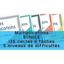 Multiplications Cartes à tâches Lot complet