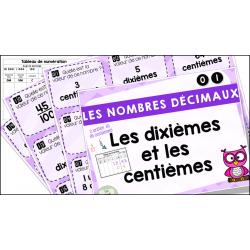 Nombres décimaux - Dixièmes et centièmes