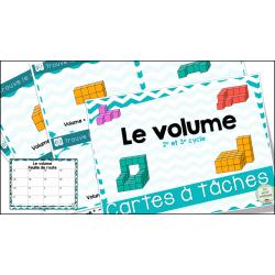 Le volume - Cartes à tâches