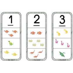 Les cartes à pinces dinosaures