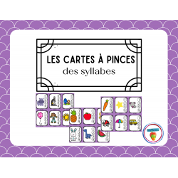 Carte à pince des syllabes