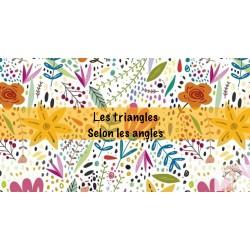Cartes à tâches sur les triangles