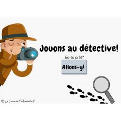 Boomcards de lecture - Jouons au détective!