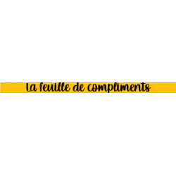 feuille de compliments