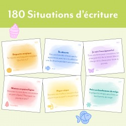 Cartes à tâches - 180 Situations d'écriture