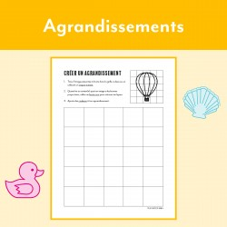 Agrandissements sur quadrillage