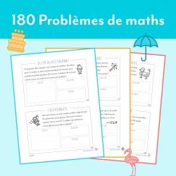 2e année - 180 Problèmes de mathématiques