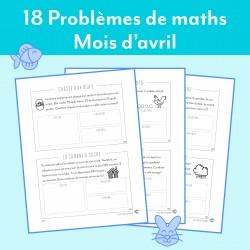 2e année - Avril - 18 Problèmes de mathématiques