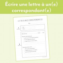 Écrire une lettre à un(e) correspondant(e)