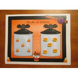Récolte de bonbons (atelier d'Halloween)