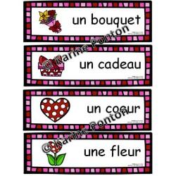 Mots étiquettes (St-Valentin)