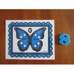 Papillon à pois
