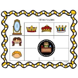 Tableaux à double entrée - Têtes royales