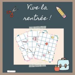 Structuration spatiale - Rentrée scolaire (PS)