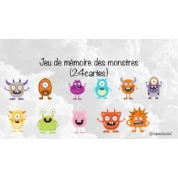 Jeu de mémoire - Monstres
