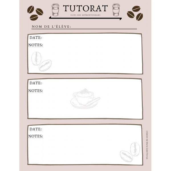 Tutorat - Suivi des apprentissages