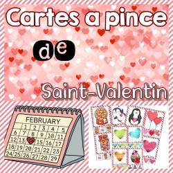 Cartes à pince - Saint-Valentin