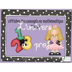Affiches concepts mathématiques 1er cycle