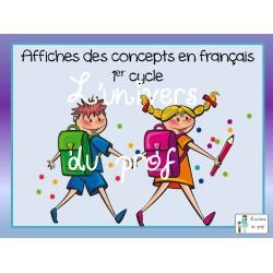 Affiches concepts en français 1er cycle