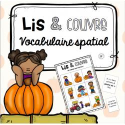 Vocabulaire spatial - Lis et couvre