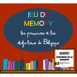 jeu de mémoire - provinces et chefs-lieux