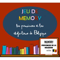 jeu de mémoire des provinces de Belgique