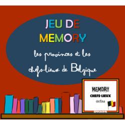 jeu de mémoire - chefs-lieux de Belgique et cartes