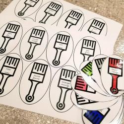 Référentiel individuel porte-clés - les couleurs