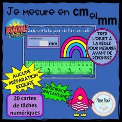 Cartes BOOM: Je mesure en cm et mm (partie 2)