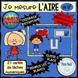 Cartes BOOM: Je mesure l'AIRE (en unités carrées)